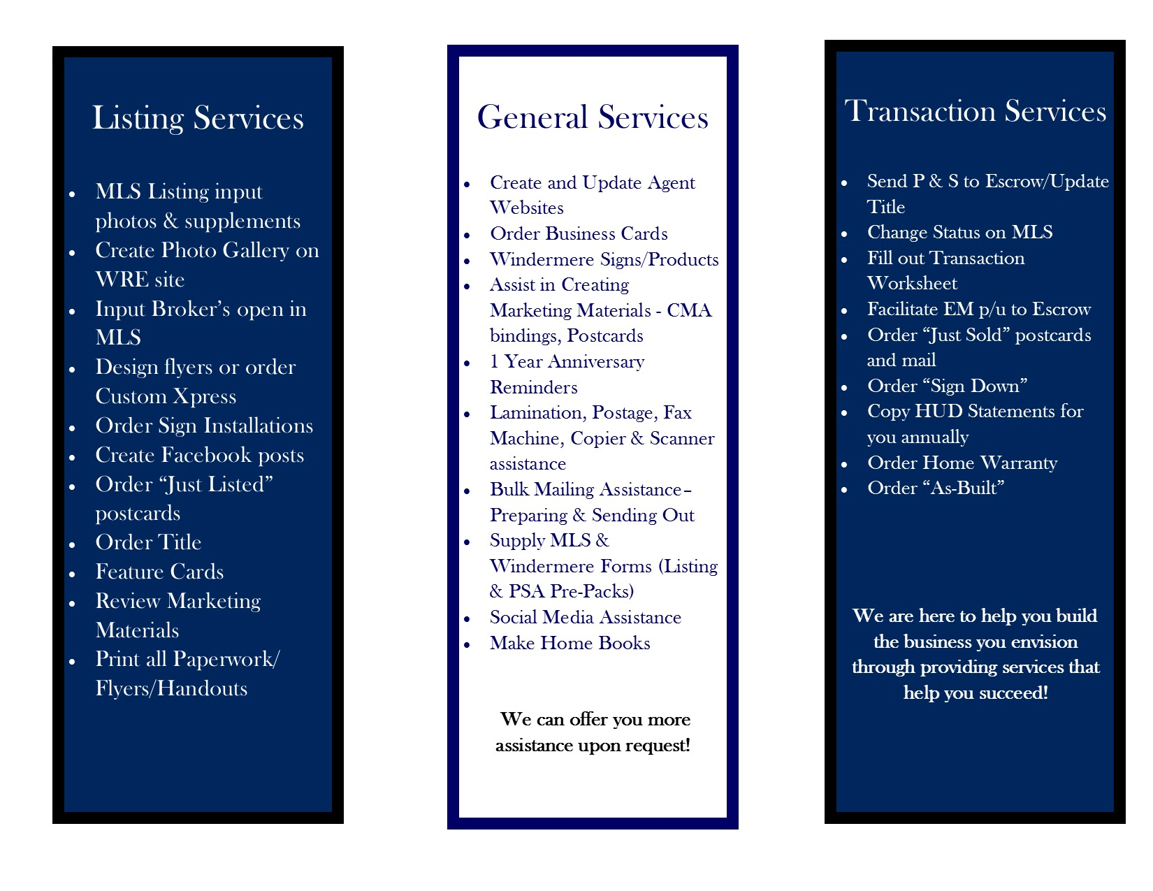 Added Services for Our Brokers Brochure (2) REVISED Side1